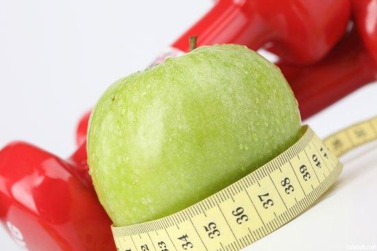 Тренировки и яблоко