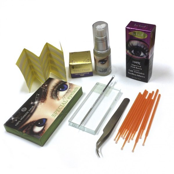 материалы для наращивания ресниц.