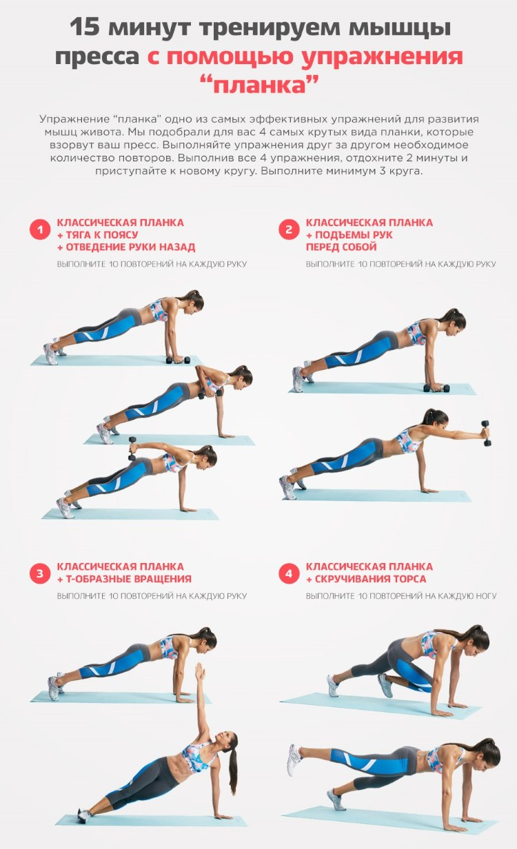 Планка - самое эффективное упражнение. Фото до и после - результаты