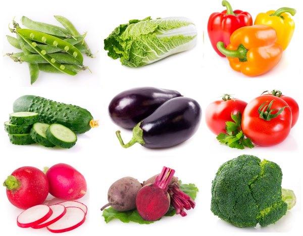 Овощи для похудения.