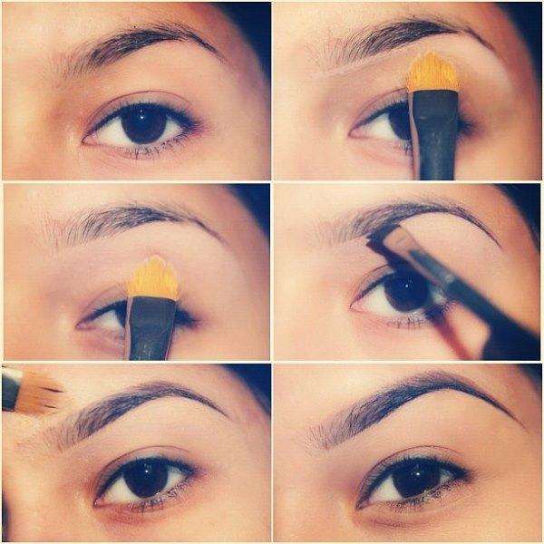 Как красиво нарисовать брови карандашом поэтапно