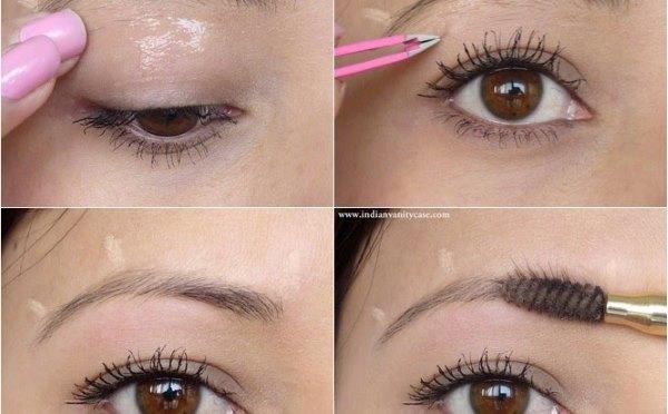 Подготовка бровей для макияжа с карандашом