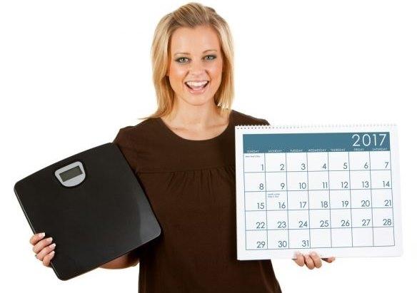 Девушка с весами и календарем