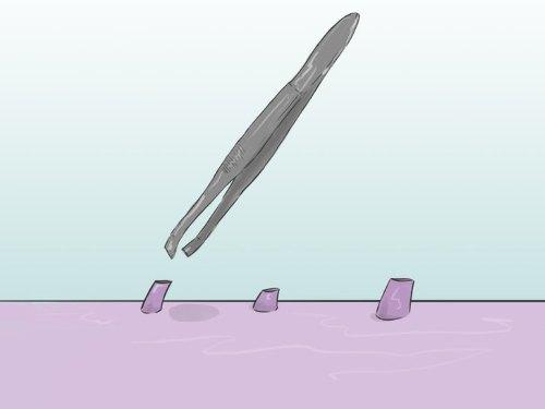Удаление волосков пинцетом