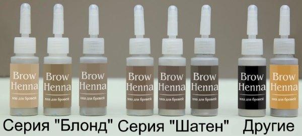 "Серии хны ""Brow Henna""."