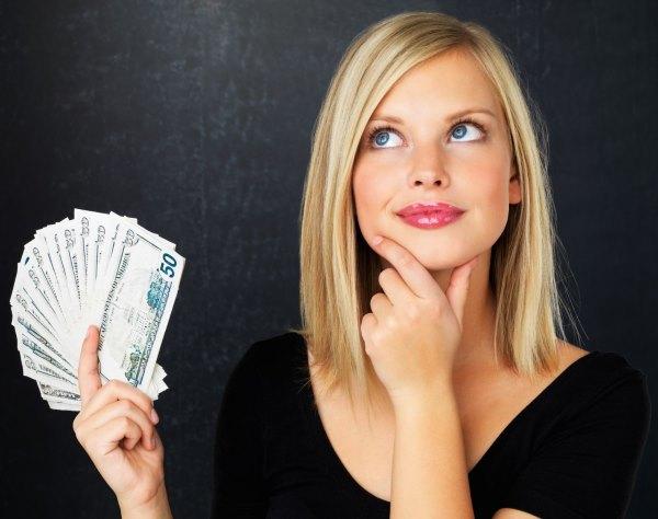 Девушка с деньгами.