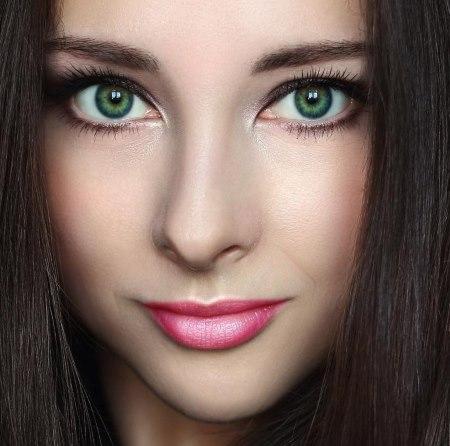 Правильные тени для зеленых глаз и темных волос. Правила идеального макияжа