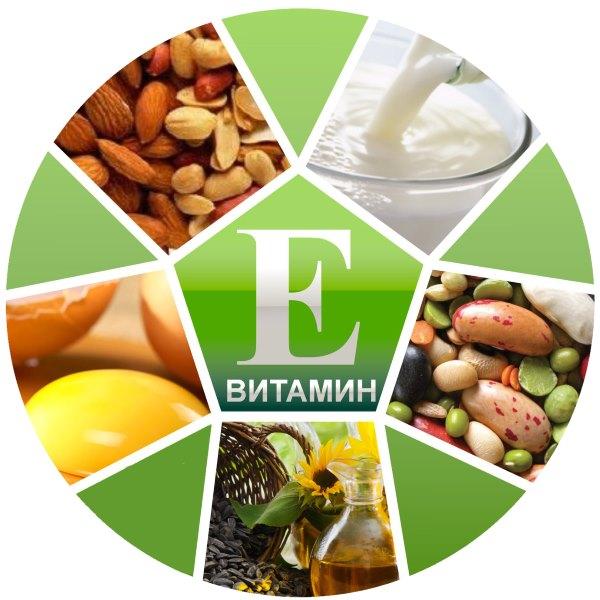 Продукты с витамином Е.
