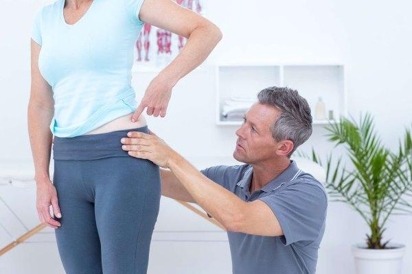 Боль в бедре слева у женщины