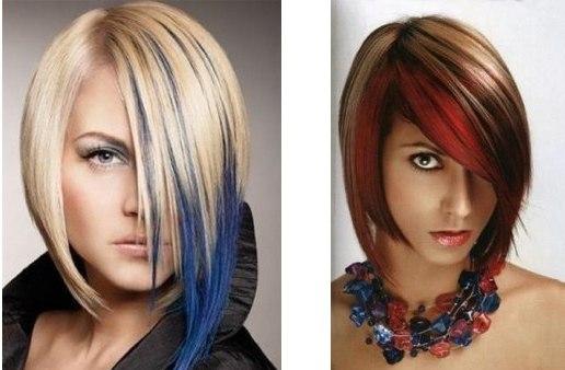 Как сделать цветные пряди волос фото 30