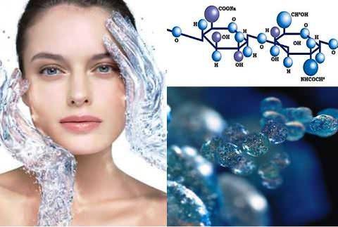 Лицо девушки, молекулярные соединения