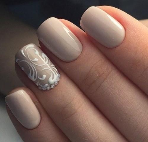 Дизайн в бежевых тонах фото ногти