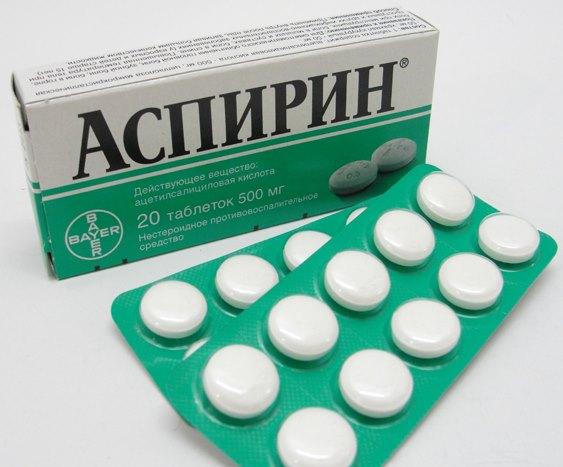Аспирин в таблетках.