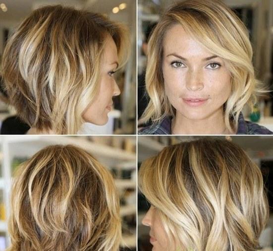 мелирование на русые волосы фото короткие волосы