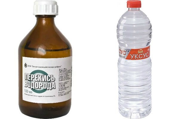 Перекись водорода и уксус