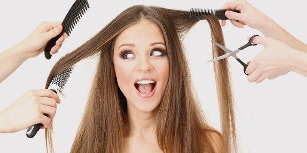 Девушка в парикмахерской.