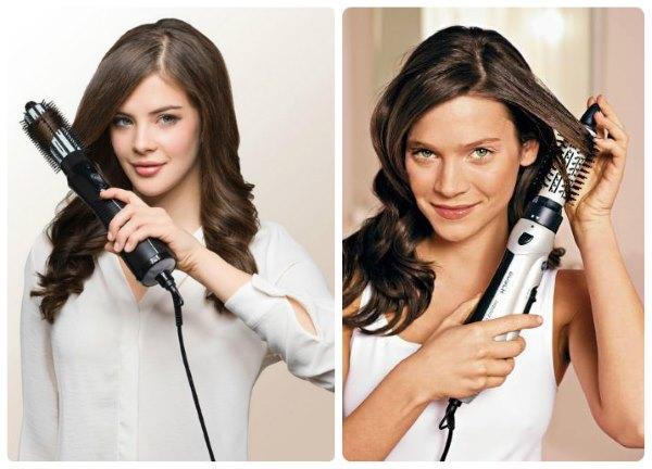 Девушки укладывают волосы.
