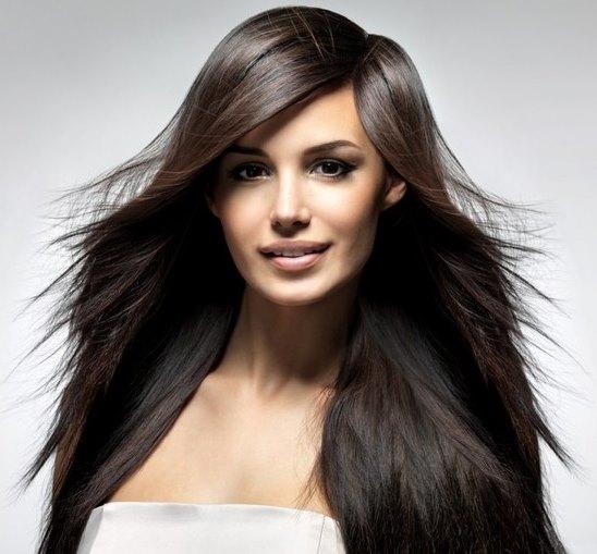 """Девушка с """"Каскадом"""" на длинные волосы."""