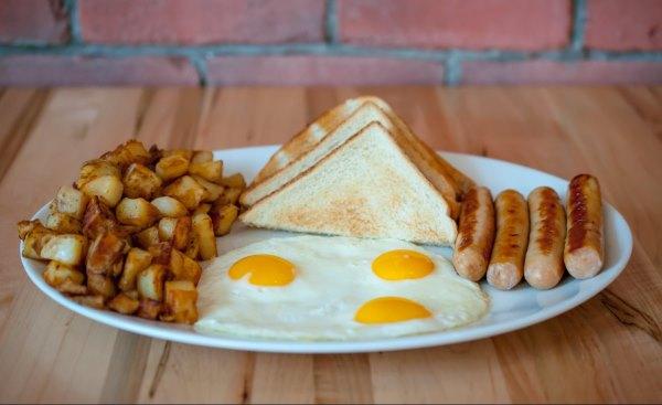 Маленькая порция завтрака.