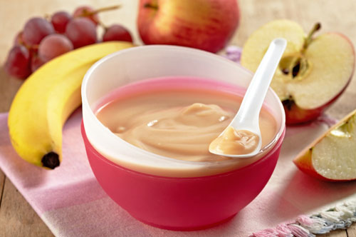 Пюре из банана и яблока