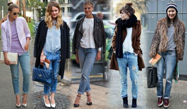 верхняя одежда и джинсы