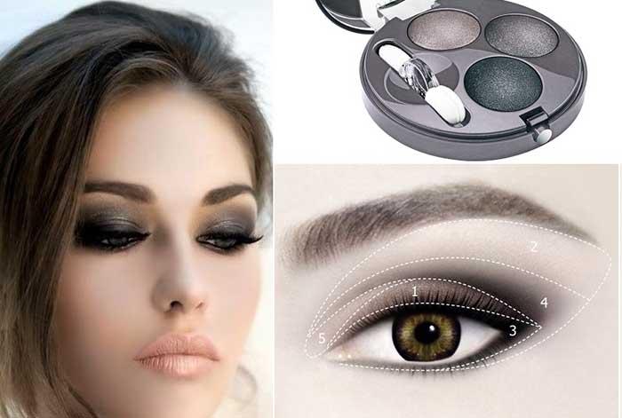 Дымчатый макияж глаз с