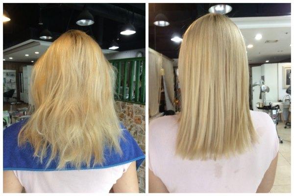 Фото до и после использования белой хны.