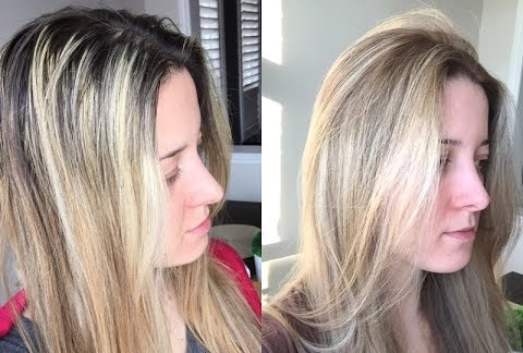 Покраска растяжка волос