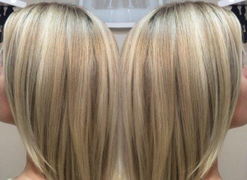Растяжка цвета на волосах - от темного к светлому в домашних условиях. Фото