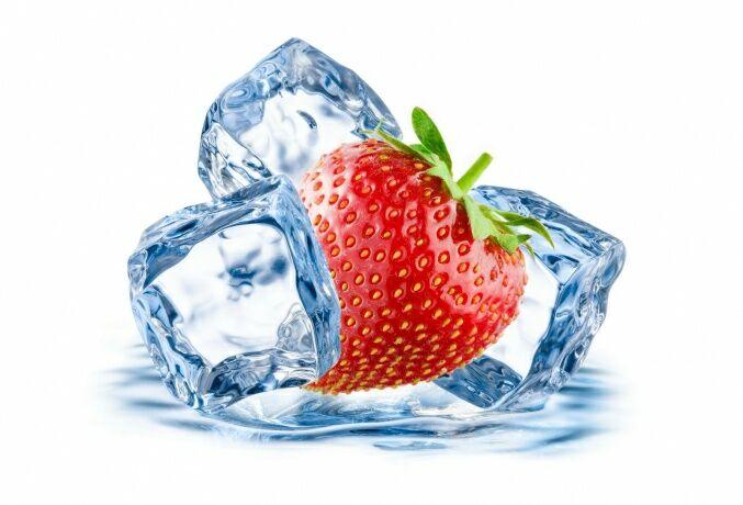 клубничный лед