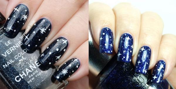 Рисунки на ногтях на синем лаке. Мастер-класс маникюра в синих тонах