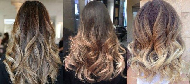 Окраска русых волос