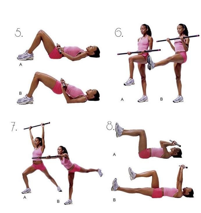 Бодибар (body bar) – гимнастическая палка для фитнеса. Как выполнять упражнения. Видео