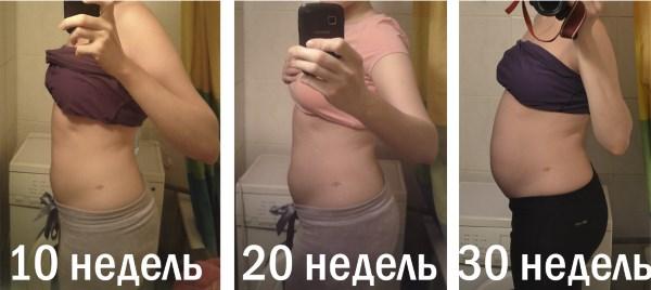 Размер живота на 10 неделе беременности фото