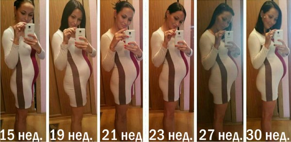 На какой неделе беременности начинает расти живот. Как растет живот