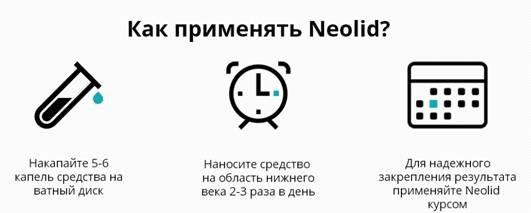 Neolid (Неолит) крем от мешков под глазами. Действие на кожу, показания к применению