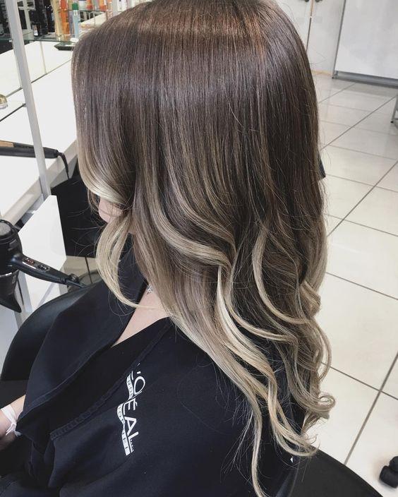 шатуш на тёмно русые волосы фото