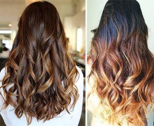 Омбре на темные волосы средней длины. Фото модных вариантов омбре