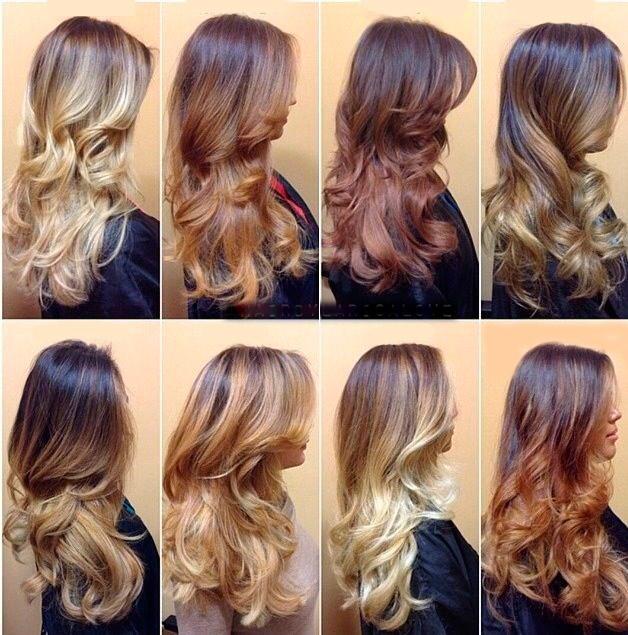 Прически пучки на средние волосы омбре