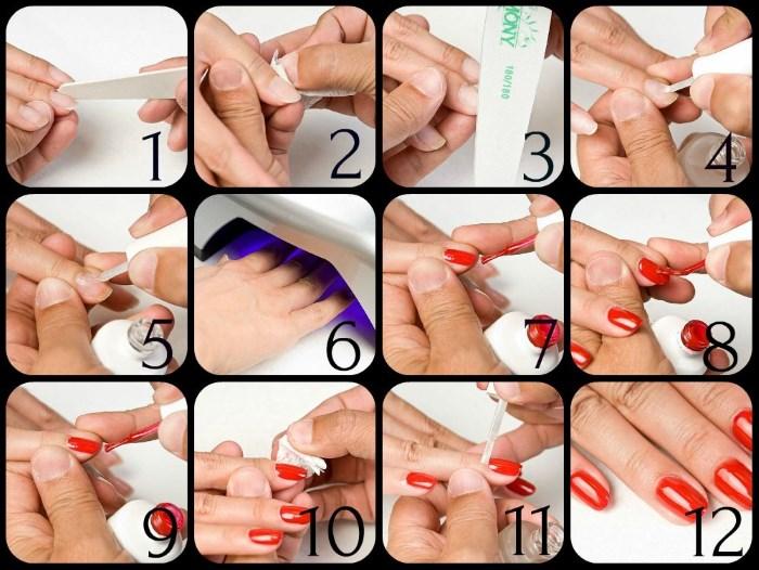 Как делают ногти гель-лаком