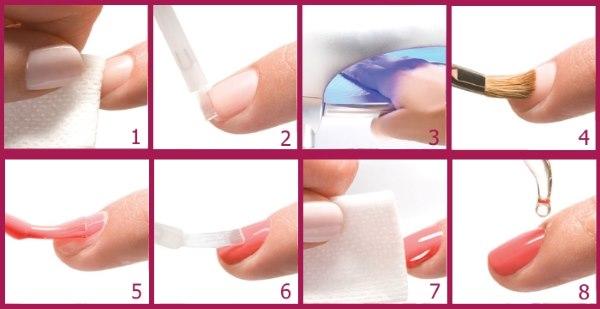 Покрытие ногтей гелем без наращивания. Инструкция пошаговая