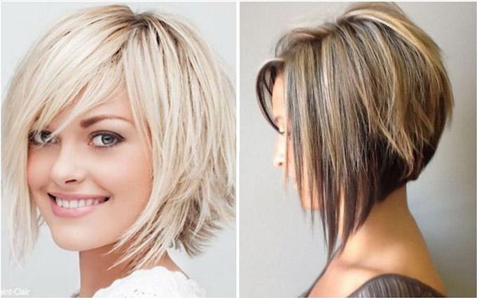 Cтрижки на средние волосы с челкой 2019 женские. Фото, укладка