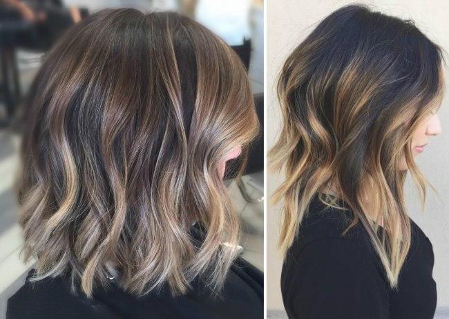 Балаяж на темные короткие волосы. Как выбрать цвет и стильные варианты исполнения