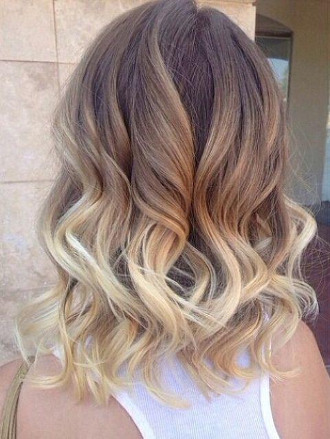 омбре волосы до плеч фото