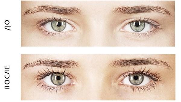 Что такое покраска ресниц фото до и после