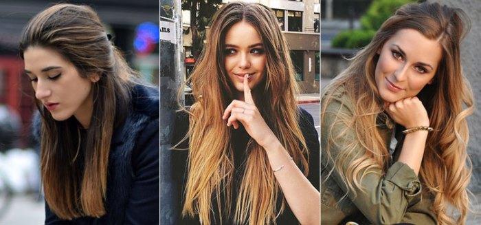 Омбре на темные волосы длинные. Скандинавское, цветное, пепельное, омбре с полосой