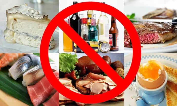 Продукты, которые запрещены при холецистите