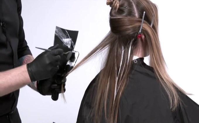 Стильный балаяж на светло-русые волосы. Техника окрашивания. Фото