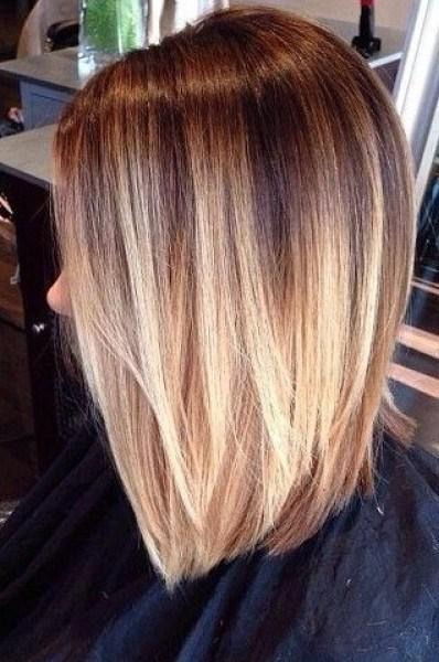 Балаяж на русые волосы фото каре