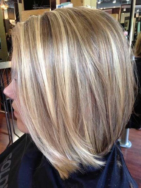 фото каре на русые волосы